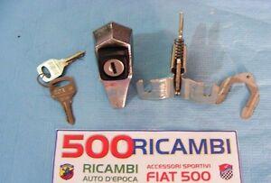 FIAT 500 F/L/R MANIGLIA IN ZAMA APERTURA COFANO POSTERIORE MOTORE CON CHIAVE
