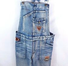 Harley Davidson Jean Overalls Sz 10 Medium Wash Denim O Ring Back Patches Ladies
