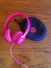 Beats by Dr. Dre Solo 2 Wired Gloss PINK Headphones Only Right Side Works