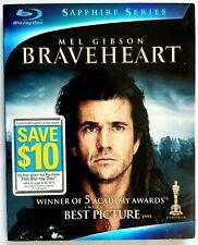 Braveheart (Blu-ray Disc, 2009, Sapphire) w/slipcover Mel Gibson Christmas New