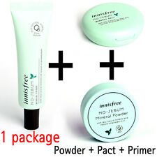 [INNISFREE] 1+1+1 or 2+2+2 No Sebum Mineral Power 5g + Primer 25ml + Pact 8.5g
