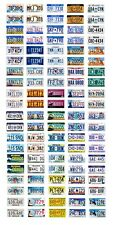 1/25 scale model car assorted USA 2000 license plates state tags 1:25