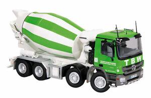 NZG 754-36 TBW - Mercedes-Benz Actros 8x4 Concrete Mixing Truck 1/50 O Scale MIB