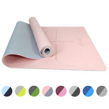 Ativafit TPE Yoga Mat Non-slip Exercise Fitness Home Gym Extra Mats Yoga towel