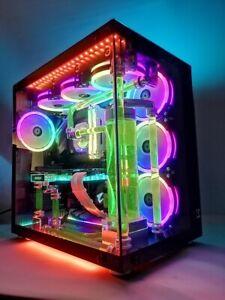 CUSTOM WATERCOOLED GAMING 4K DESKTOP PC INTEL I7 6700k
