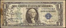 1935 A $1 DOLLAR BILL WWII SHORT SNORTER SIGNED SILVER CERTIFICATE PAPER MONEY