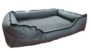 Heated Pet Bed, Cat, Dog, Puppy, Kitten Electric Heated Pad, Soft, Dark Grey Sq