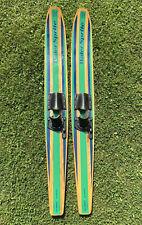 "Vintage Ski World By Puritan ""WATER SPRITE"" Wood Water Skis Youth"