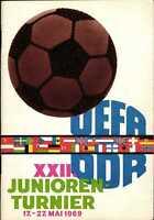 1969 UEFA Junioren Turnier DDR mit BRD, UdSSR, Schottland, England, Polen, ...