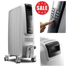 DeLonghi Full Room Electric Oil Filled Radiant Heater Portable Digital 1500 Watt