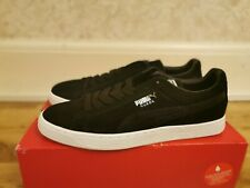 Mens Puma Suede Classic PFS Suede Trainers Shoes - Black -Puma Silver- White