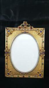 Antique Lrg. Jeweled Apollo Studios Picture Frame
