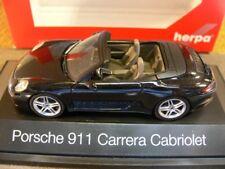 1/43 Herpa Porsche 911 Carrera Cabrio schwarz