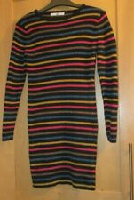 M&S GIRLS 10-11 YEARS STRIPED SPARKLY JUMPER DRESS