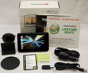 "NEW TomTom GO 2535TM Car GPS Set LIFETIME MAP CARD + TRAFFIC 5"" LCD US/Canada"