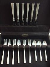 Dawn Rose by International Sterling Silver Flatware Set Service 24 Pieces Floral