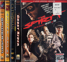 THE SPIRIT / GHOST RIDER / SPIDERMAN 2 / CATWOMAN / SPIDERMAN  DVD LOT