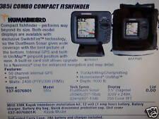 FISHFINDER HUMMINBIRD 385I COMBO COMPACT 137-4076801 MARINE ELECTRONICS BOAT