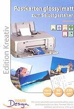 PAPIER YOUR DESIGN SPECIAL CARTES POSTALES 30F BRILLANT / postcard carte postale