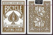 2 DECKS Bicycle Acorn Back playing cards Heritage Series