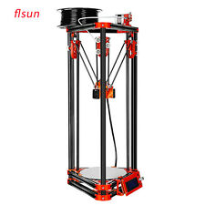 Flsun LCD Delta 3D Printer DIY Kit Metal Frame Kossel Heated Bed+Auto Leveling