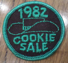 Vintage Girl Scout Uniform Patch Gs  Cookie Sale 1982 Cowgirl Hat