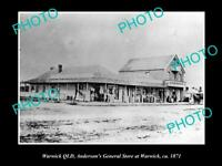 OLD POSTCARD SIZE PHOTO OF WARWICK QUEENSLAND ANDERSONS GENRAL STORE 1871