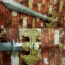 Huge Skull Axe Medieval Fantasy Sword Thick Soft Foam Strong LARP CosPlay Stage