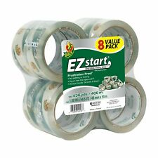 New Duck Ez Start Packing Tape 188 Inches X 546 Yards Clear 8 Pack Great Tape