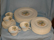 Vintage Theodore Haviland China Mt Vernon 24 pcs bouquet Dinner Salad Plates