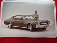 1971 CHEVROLET CHEVELLE MALIBU  COUPE  11 X 17  PHOTO  PICTURE