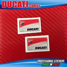 2 Adhesivos Resina 3D DUCATI Corse Scuderia Motorrad 28 x 17 mm