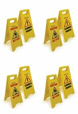 FOUR PACK CAUTION WET FLOOR SIGN CLEANING IN PROGRESS YELLOW WARNING CONE UK