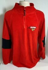 Chicago Blackhawks Red 1/4 zip Pullover fleece warmup top XL NHL Licensed