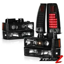 BLK DRL Projector Head Lamp Corner Signal LED Tail Light Chevy SUburban Tahoe