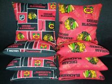 Set of 8 Chicago Blackhawks Cornhole Bags *Free Shipping*