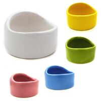 Pet Ceramic Feeding Bowl Dish Water Food Feeder Fr Hamster Guinea Pig Rabbit Dog