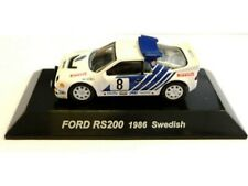 WOW EXTREMELY RARE Ford RS200 4WD Turbo 1986 #8 Sweden WRC 1:64 CM's Kyosho