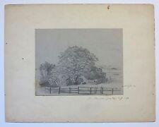 August Will 1871 NJ landscape drawing Arlington AVE. Jersey City artist