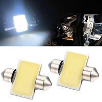 2* Car SUV White COB LED License Plate Lights Domestic Festoon Reading Lamp 31mm