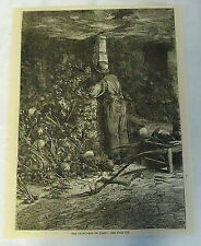 1885 magazine engraving ~ The Catacombs Of Paris