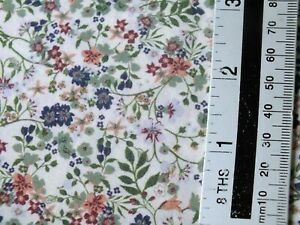 3 meters piece .100 % cotton  poplin  autumn floral