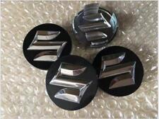 4X 54mm 3D BLACK Car Refitting Wheel Center Hub Caps Cover Emblems For Suzuki