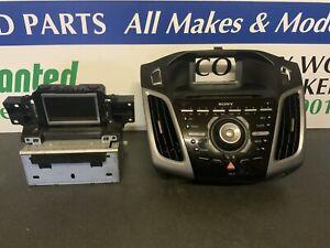 FORD FOCUS MK3 2011-2015 SONY RADIO STEREO SYSTEM BM5T-18C815-XG CD HEAD UNIT