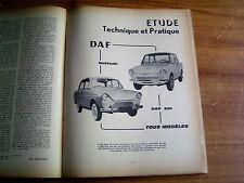 REVUE TECHNIQUE MECANIQUE RTA DAF 600 DAFFODIL tous modèles