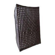 100cm x 70cm RETRACTIL Cuadrado Caja Suave + 2 Difusores & 4cm REJILLA Bowens