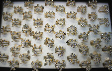 49pcs Newest Style Wholesale Lots Rhinestone Alloy Gold P Lady's Tail Ring EH315