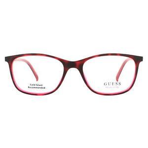 Guess Eyeglasses GU3004 052 Dark Havana Red Men Women