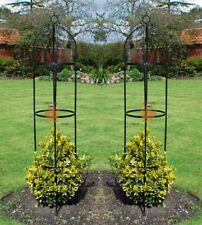 New 2x Metal Garden Obelisk Climbing Plant Support Frame Garden Trellis Flowers