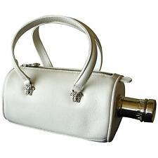 5abbdaeea96a Rare Versace Absolut Bottle Bag Mini Tote Limited White Leather VTG 1997 +  Box